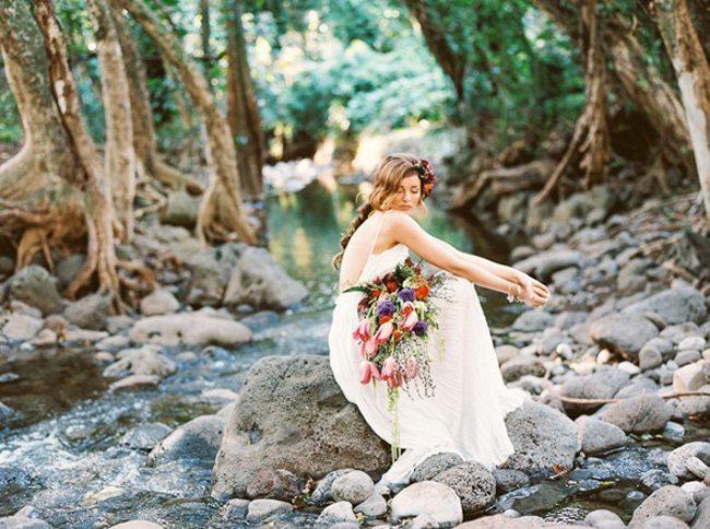 Maui lavender farm wedding