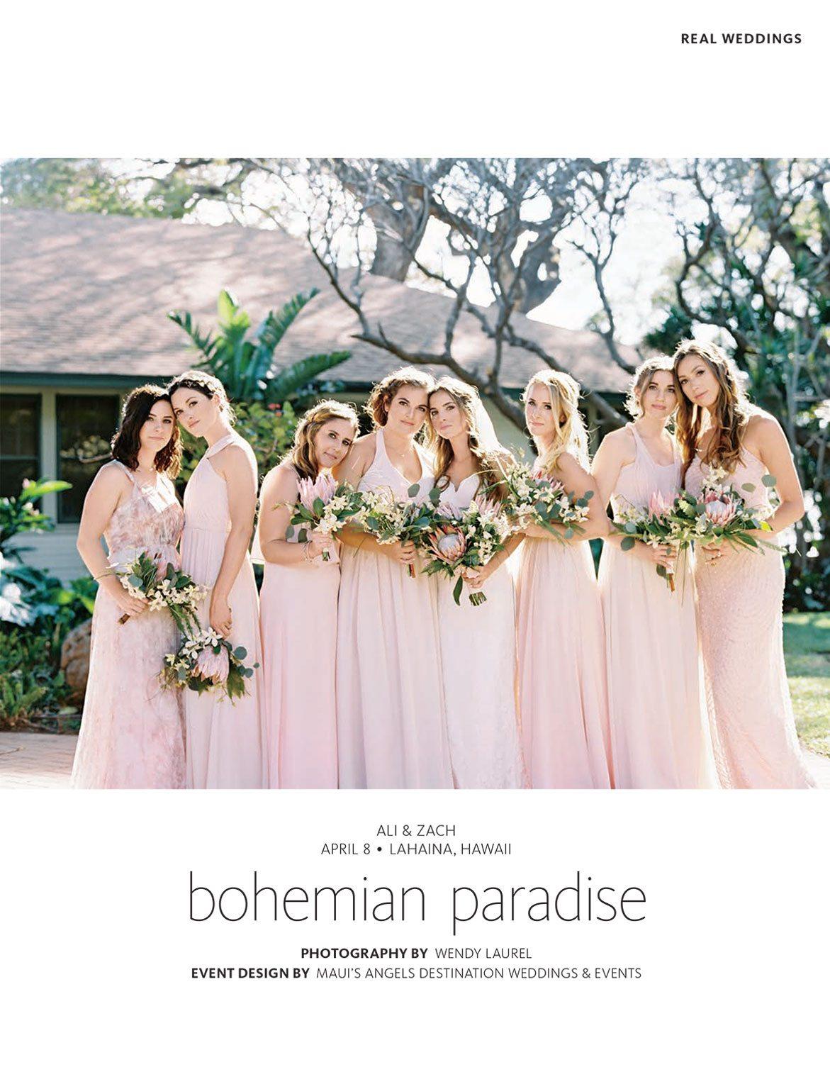 Maui wedding bridesmaids