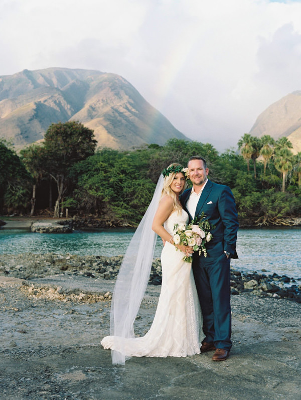 Bride and Groom in Maui | Destination Weddings in Maui | Maui's Angels