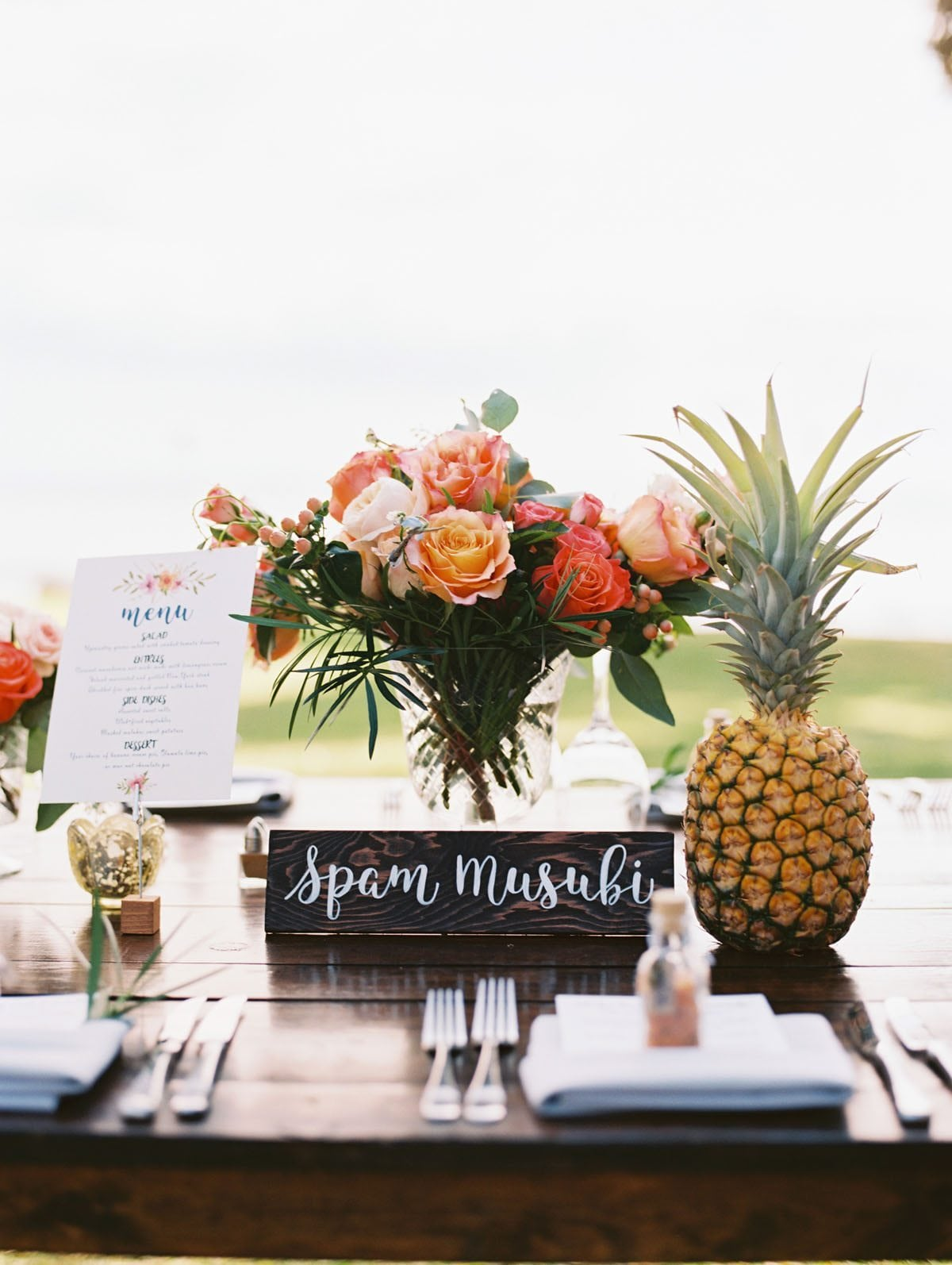 Rustic Farmhouse Dining Tablescape | Maui's Angels Wedding Blog | Weddings in Maui