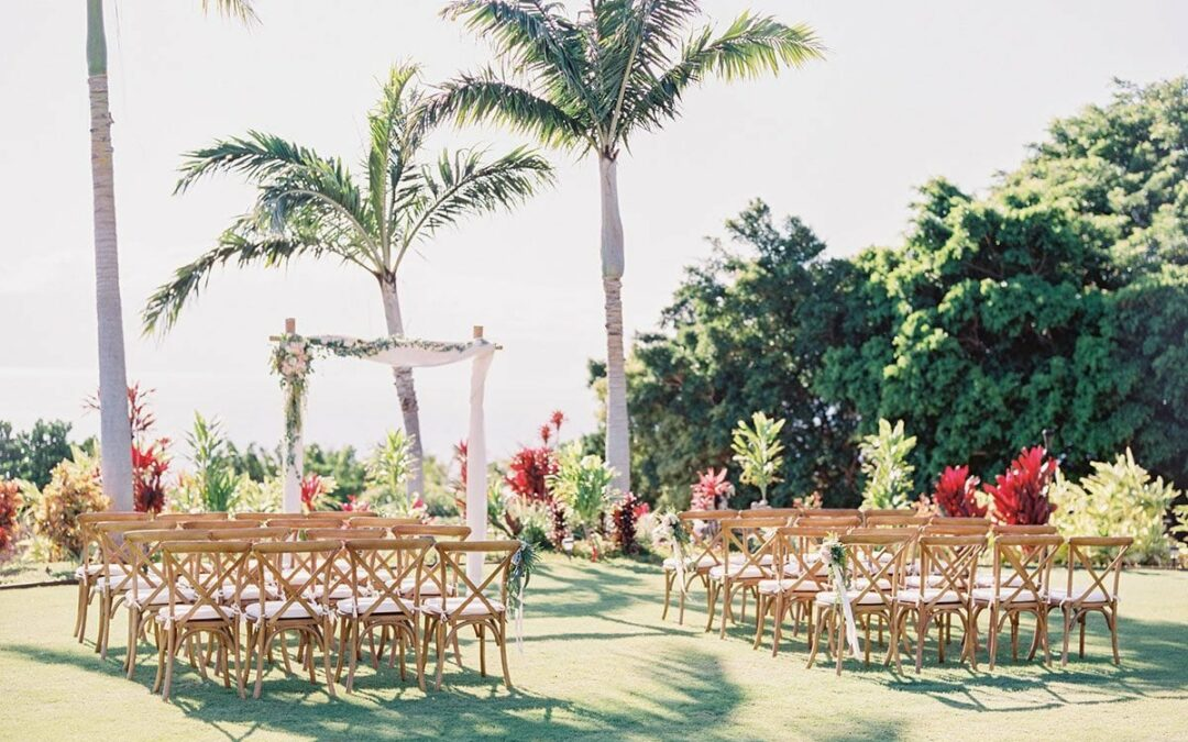 Lush Garden Destination Wedding at Maui's Mauka Lani Estate