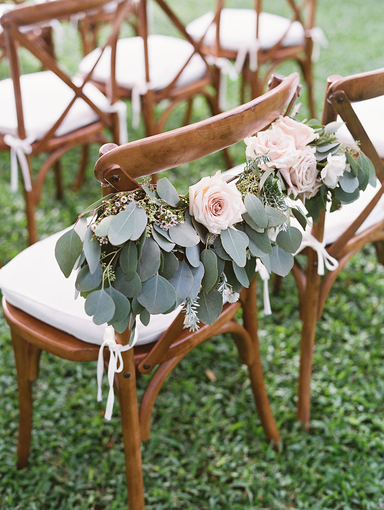 Ceremony Chair Floral | Olowalu Plantation House | Maui Wedding Planner | Maui's Angels Blog