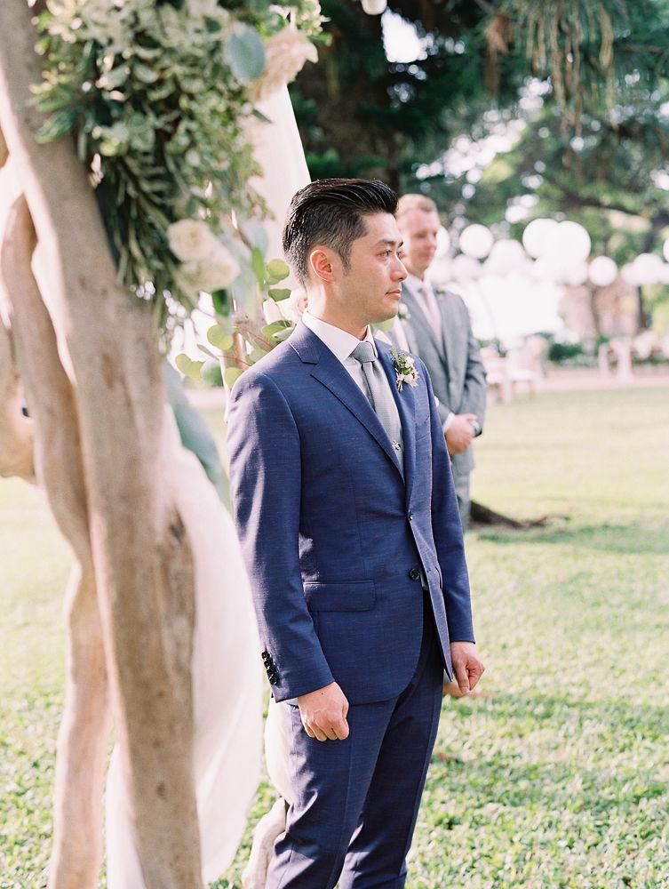 Blue Groom's Suit | Olowalu Plantation House | Maui Wedding Planner | Maui's Angels Blog
