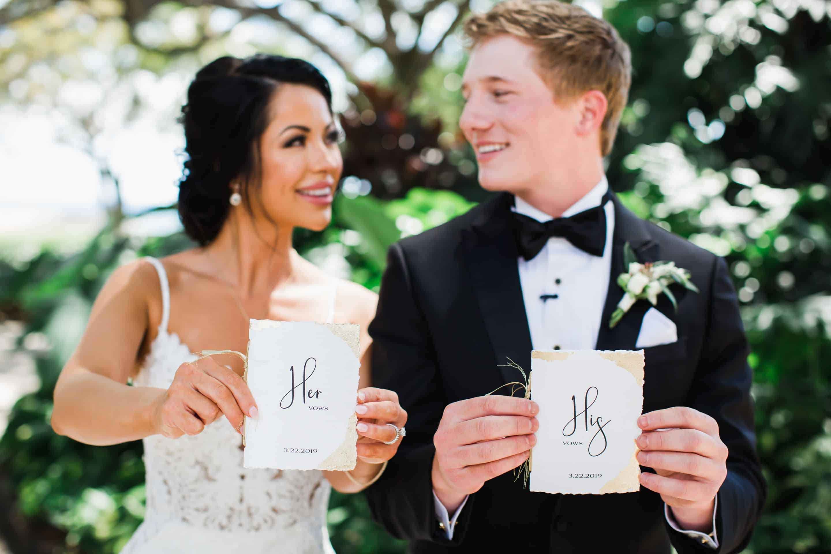 His and Hers vow books | Maui's Angels