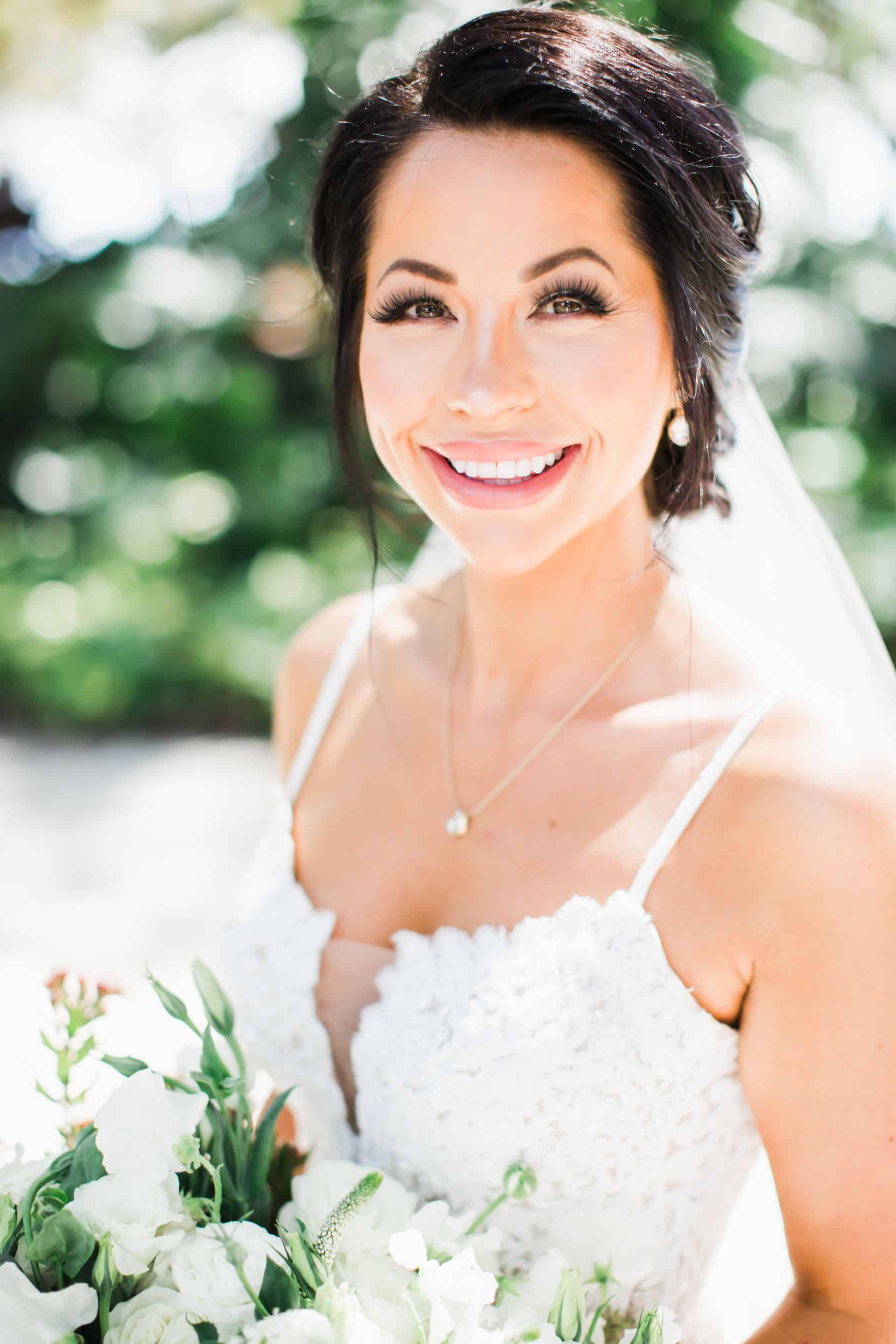 Beautiful smiling bride on Maui | Maui's Angels