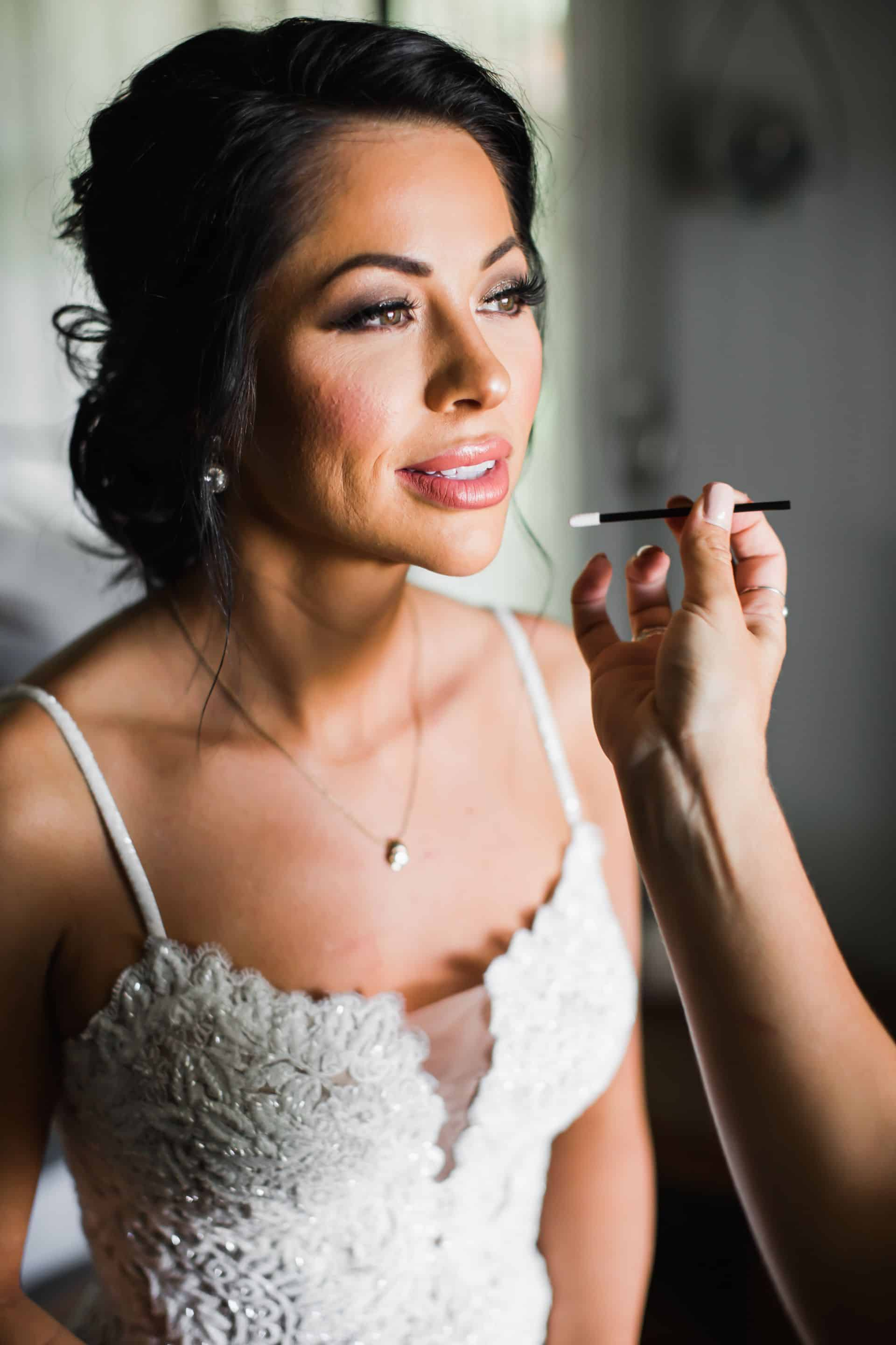 Getting ready bridal makeup | Maui's Angels